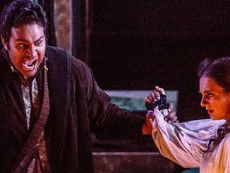 Melbourne Opera Stephen Smith as Otello with Elena Xanthoudakis as Desdemona in Otello