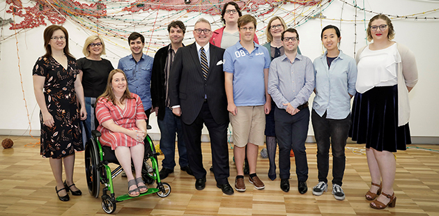 AAR Createability Interns with Minister Harwin, Accessible Arts and Create NSW