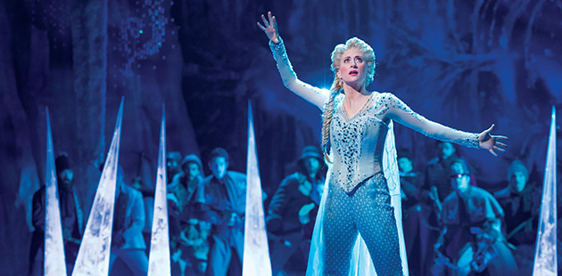 Caissie Levy as Elsa in the Broadway production of Frozen - photo by Deen van Meer