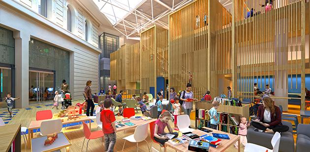 SLV Pauline Gandel Children's Quarter Design Render