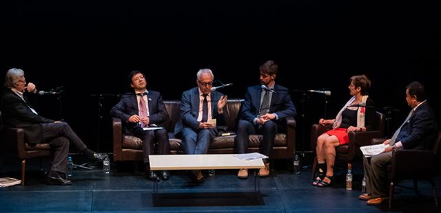 AFCT Douglas Gautier AM, Yang Zhi, Alec Coles OBE, Ryan Webb, Ruth Rentschler OAM and Ying Zhu - photo by Juan Van Staden