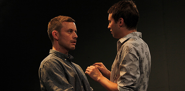 Shaun Goss and Matthew Connell in Cock - photo by Madeline Bannenberg