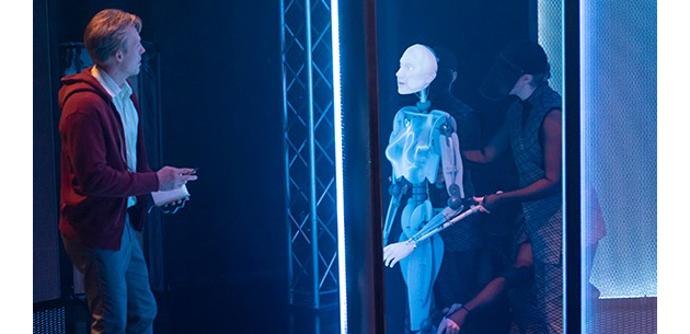 Ex Machina performed in 2018 using AI and puppetry - photo by Patrick Boland