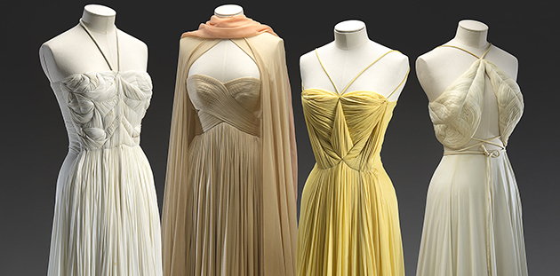 Madame GRÈS (designer), French 1903–93. Evening dresses, 1939 spring - summer, c.1980