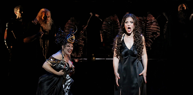 AAR Jacqueline Dark as Herodias and Lise Lindstrom as Salome in Opera Australia's 2019 production ofSalome at the Sydney Opera House- photo by Prudence Upton