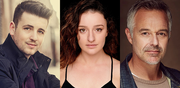 Darlinghurst Theatre Company ONCE Toby Francis, Stefanie Caccamo and Cameron Daddo