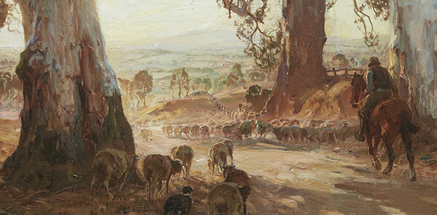 NGV Hans Heysen, Droving into the light, 1914-21