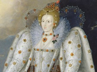 Queen Elizabeth I (The 'Ditchley' portrait) By Marcus Gheeraerts the Younger, c.1592 (detail) © National Portrait Gallery, London