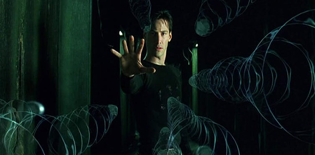 Keanu Reeves stars in The Matrix - courtesy of Warner Bros