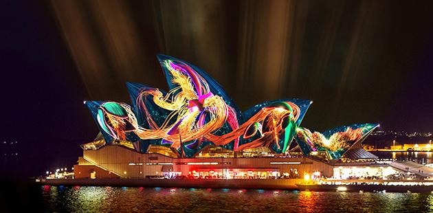 Vivid Sydney 2019 Andrew Thomas Huang, Austral Flora Ballet (artist impression)