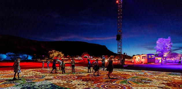 AAR Parrtjima festival, Alice Springs, Australia. Images courtesy Parrtjima NTMEC. Copyright James Horan