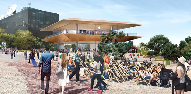 Artist Impression of Apple's proposed development at Federation Square