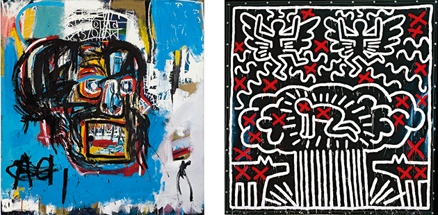 NGV Keith Haring Jean-Michel Basquiat Crossing Lines