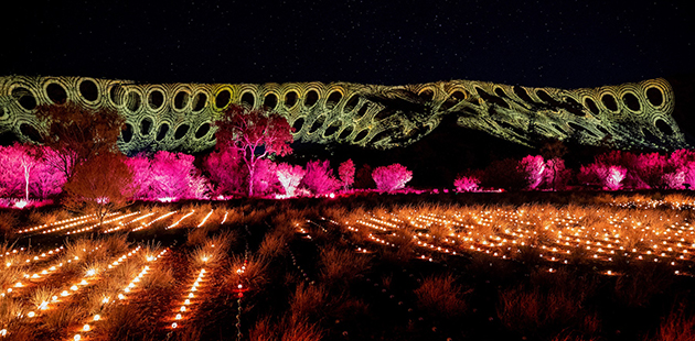 Parrtjima festival, Desert Park, Alice springs, Australia - photo by James Horan