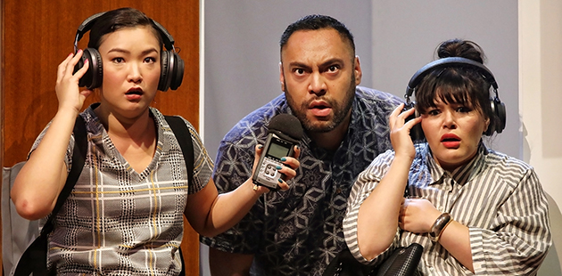 STC How To Rule The World Michelle Lim Davidson, Anthony Taufa and Nakkiah Lui - photo by Prudence Upton