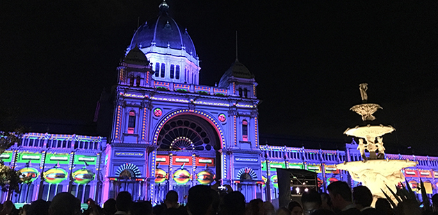 White Night Melbourne Royal Exhibition Buildings 2017 - photo by Rohan Shearn