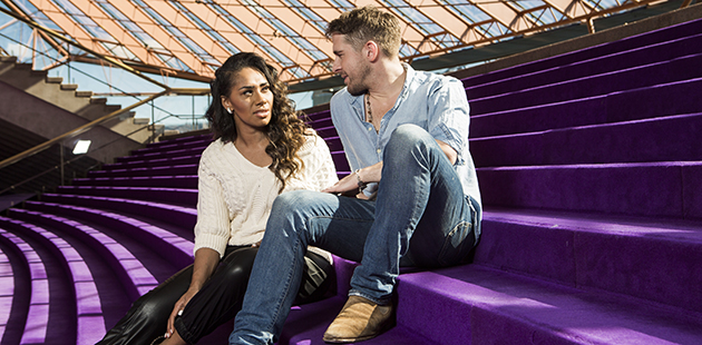 HAIR Paulini and Hugh Sheridan