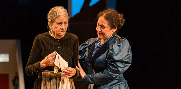 The Street Theatre A Doll's House, Part 2 Camilla Blunden as Anne Marie and Rachel Berger as Nora - photo by Shelly Higgs
