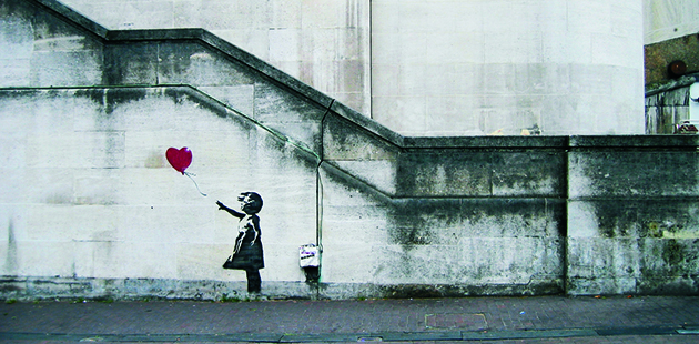 AAR Banksy Girl with Balloon.