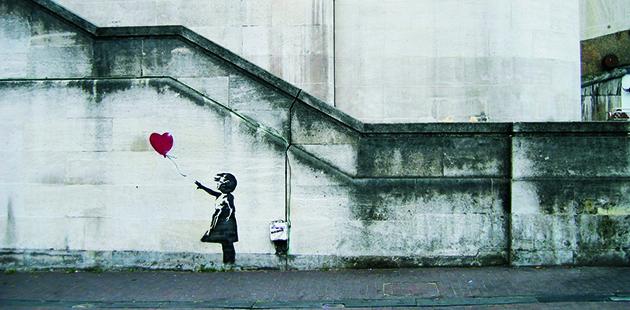 AAR Banksy Girl with Balloon.
