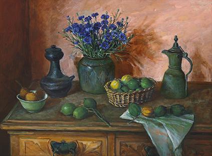 OLLEY Cornflowers And Lemons 1984