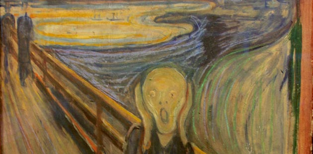 Edvard Munch, The Scream, 1893, (detail) Nasjonalmuseet, Norway