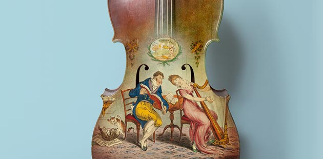 Violoncello, 1814 - photo © Jenni Carter for Sydney Living Museums