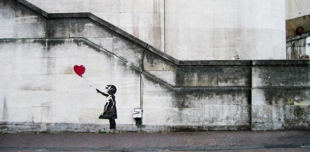 AAR Banksy Girl with Balloon