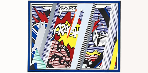NGA Roy Lichtenstein, Reflections on Crash, 1990