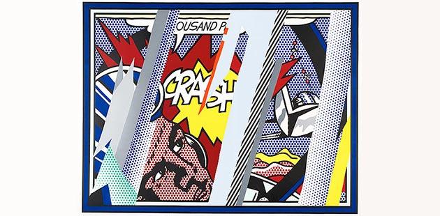 NGA Roy Lichtenstein, Reflections on Crash, 1990