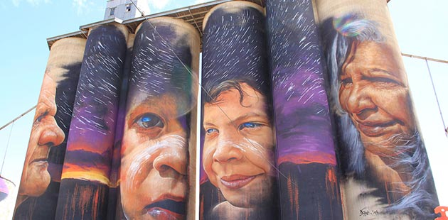Sheep Hills Silo Art by Adnate - courtesy of Visit Victoria