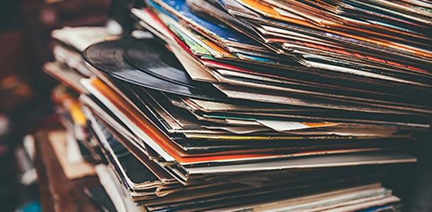 Stack of Vinyl Records