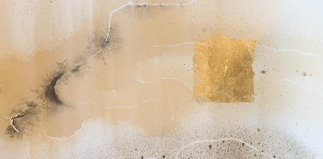CGD HOME Zakiria Tahirian, Untitled, ink and gold on paper, 2019 (detail)