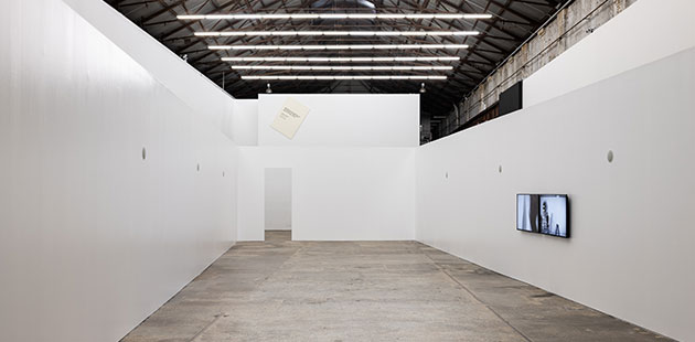 Mike Parr, The Eternal Opening, Carriageworks, 2019 - photo by Mark Pokorny