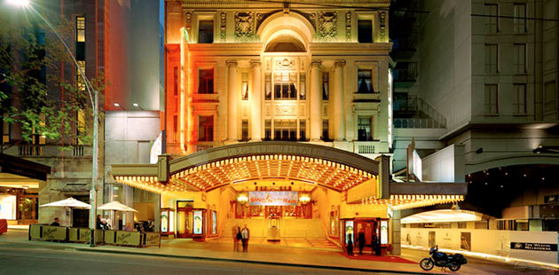 AAR Melbourne's Regent Theatre at night - photo by Dianna Snape