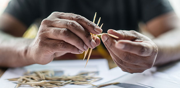 Maree Clarke making her Thung-ung Coorang jewellery - photo by Eugene Hyland