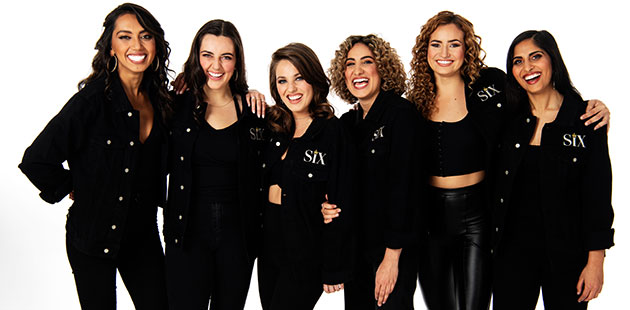 SIX The Musical - Chloe Zuel, Kala Gare, Loren Hunter, Kiana Daniele, Courtney Monsma, Vidya Makan - photo by James D. Morgan