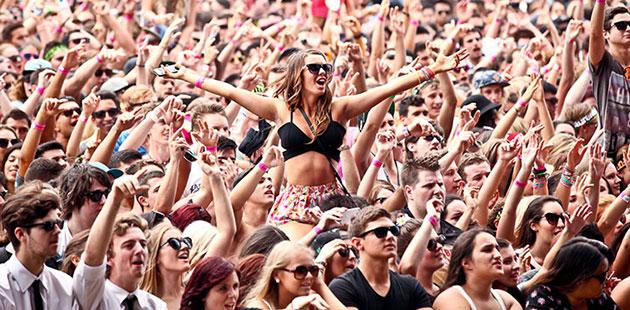Contemporary Music Festival Crowd