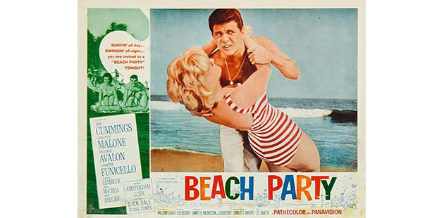 A poster for the 1963 film Beach Party. Alta Vista Productions