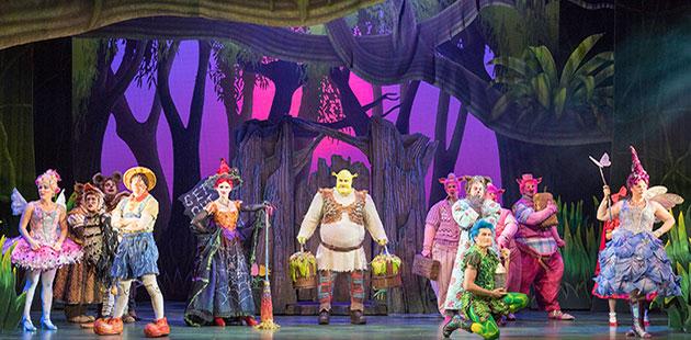 Shrek The Musical Ben Mingay and Ensemble - photo by Brian Geach