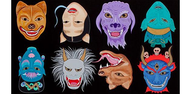TWMA Kate Beynon Masks of the Ogre Dancers