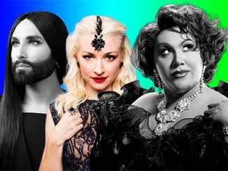 Conchita Wurst, Kate Miller-Heidke and Trevor Ashley