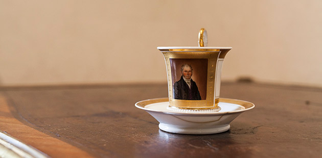 Cup,France, circa 1860, porcelain, soft paste. The Johnston Collection Foundation Collection, 1989