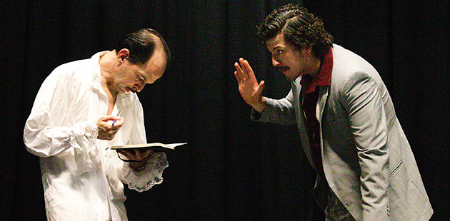 Dean Gunera as Huey and Josh Massarotti as Aldo feature in Italian American Reconciliation - courtesy of Lab Theatre