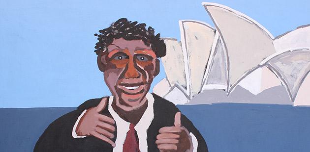 MCA Vincent Namatjira, Albert Namatjira in Sydney - Yeah, 2014
