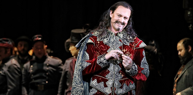 Teddy Tahu Rhodes as Méphistophélès in Opera Australia's production of Faust at the Sydney Opera House - photo by Prudence Upton