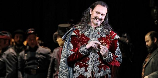 Teddy Tahu Rhodes as Méphistophélès in Opera Australia's production ofFaust at the Sydney Opera House - photo by Prudence Upton