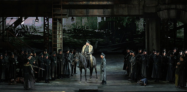 Davide Livermore's production of Attila - courtesy of Teatro alla Scala