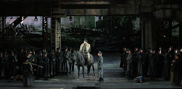 Davide Livermore's production of Attila - courtesy of Teatro alla Scala