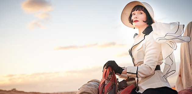 Essie Davis stars as Phryne Fisher in Miss Fisher and The Crypt of Tears - courtesy of Every Cloud Productions
